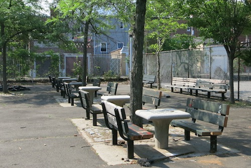 bath beach park chess tables brooklyn nyc