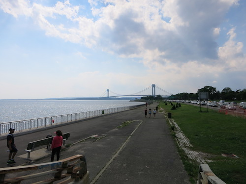 shore parkway greenway verrazano bridge bath beach brooklyn nyc