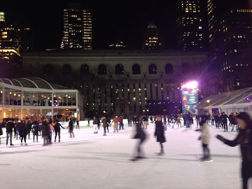 bryant park ice skating rink manhattan nyc