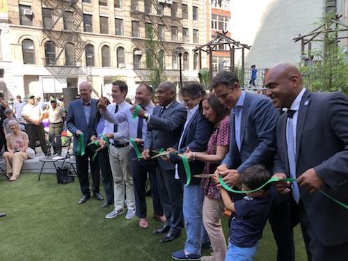 chelsea green park ribbon cutting manhattan new york city parks