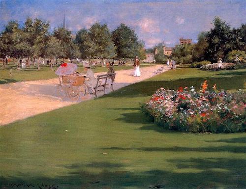 william merritt chase tompkins park 1887 herbert von king park bedford-stuyvesant brooklyn nyc new york city parks
