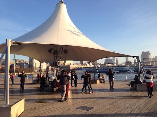 pier 45 hudson river park manhattan nyc dancers dancing