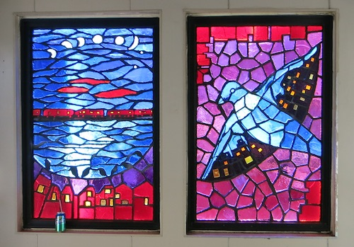 Dina Bursztyn subway stained glass bronx nyc