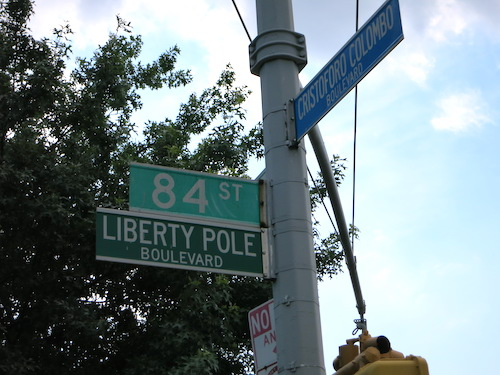 new utrecht liberty pole bensonhurst brooklyn nyc