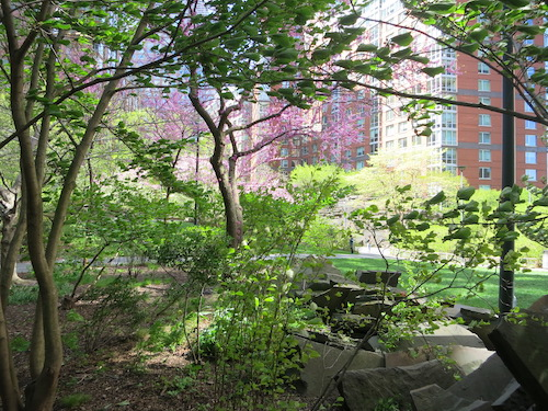 teardrop park battery park city manhattan nyc new york city