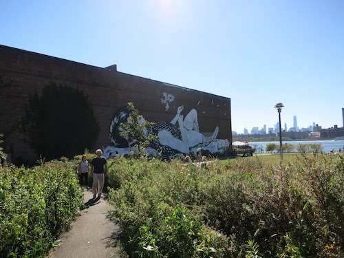 wnyc transmitter park mural greenpoint brooklyn nyc