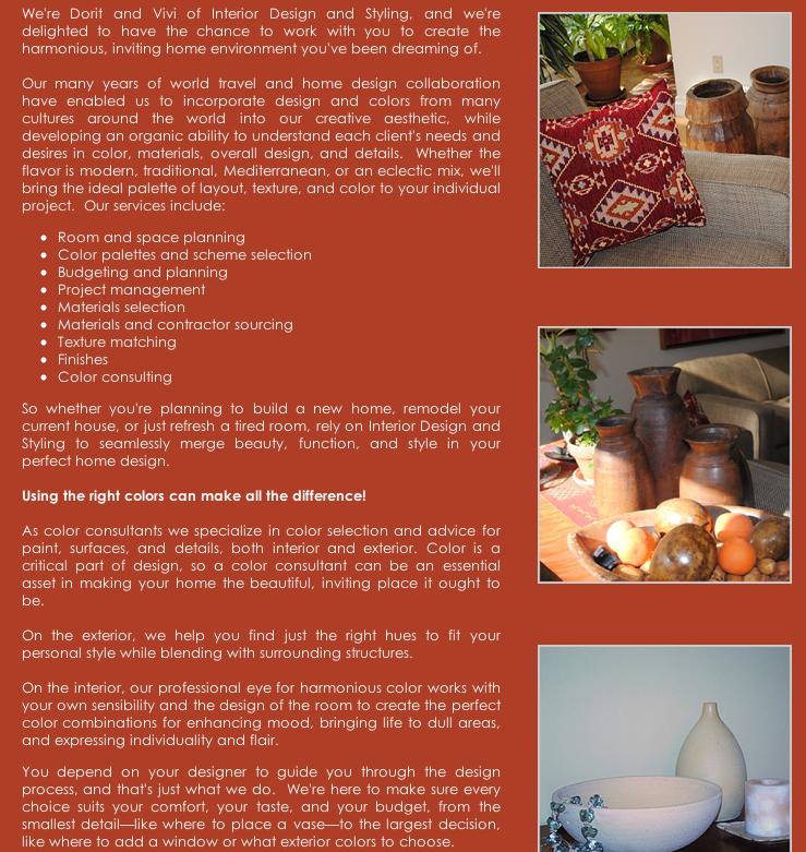 Interior Designer Web Page